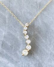 """Diamond Journey Necklace, 0.73 carats, 14K Yellow Gold, 18"""" Chain"""
