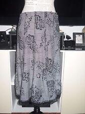 Jupe carreaux noire blanche motifs velours femme JUS D'ORANGE taille 40