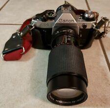 Canon AE-1 Program 35mm SLR Film Camera with Albinar 80-205mm lens