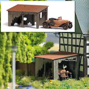 Busch 1659 Woodshed With Oldtimer Barns Find Lasercut Kit Ho 1:87 New