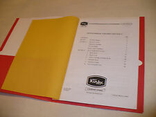 Kirby Heritage II Service Manual in folder, an aid on Omega to Legend II repairs