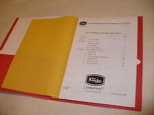 Kirby Heritage II Service Manual in folder, an aid on Omega to Legend II repairs