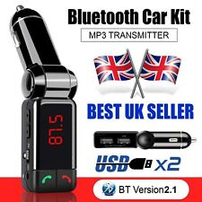 Wireless Bluetooth Car Kit FM Transmitter MP3 USB LCD Handsfree For Mobiles UK