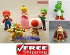 "NEW Nintendo 5"" Tall Super Mario Bros Luigi King Koopa Yoshi Toad Toy figure USA"