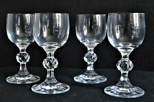 Cordial Glass in Claudia with Disco Ball Stem set of Four
