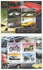 Par de coches japoneses y motocicletas Mercedes Benz Fascículos SELLO estampillada sin montar o nunca montada