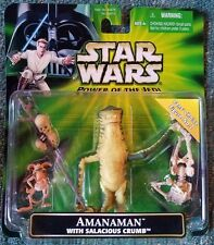 STAR WARS POWER OF THE JEDI AMANAMAN with SALACIOUS CRUMB FANS CHOICE FIGURE S57