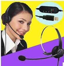 USB Stereo Headset Earphone Telephone Headphone with Mic for PC Computer Laptop