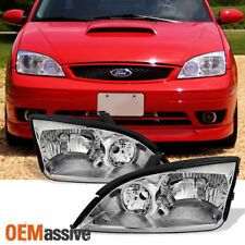 Fit 2005 2006 2007 Ford Focus Left + Right Side Headlights Head Lamps Assembly