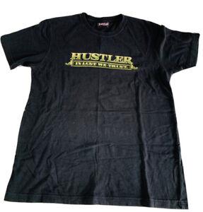 Hustler In Lust We Trust Shirt Black Size L Graphic Front & Back