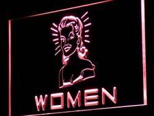 j113-r WOMEN Toilet Vintage Display Neon Light Sign