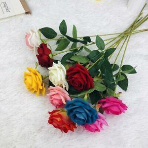 Künstliche Rosen Samtblumen mit langem Stiel Fake Roses Bouquet DIY Home Decor