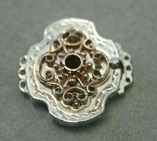 Schließe für Trachtekette -835 Silber -m. Granat - Neuware a. Juweliersauflösung