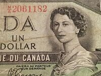 ➡➡1954 $1 BILL NOTE BC-29A DEVILS FACE CANADA M/A2061182