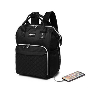 Unisex Large Backpack Waterproof Travel Rucksack Shoulder Laptop Bag USB School
