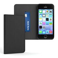 Tasche für Apple iPhone SE / 5 / 5S Cover Handy Schutz Hülle Case Etui Schwarz