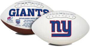 New York Giants Full Size Football White Panel Logo Signature Series New in box