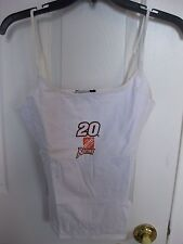 TONY STEWART #20 HOME DEPOT RACING LADIES TANK TOP WHITE SIZE MEDIUM NEW W/TAG