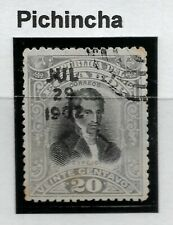 Stamps-Ecuador-Guayaquil Fuego Sello 1901. 20c. Pichincha Control H /Sello