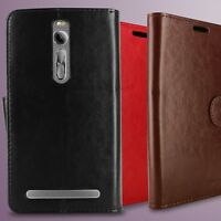 for Asus Zenfone 2 (5.5)  Leather Case Folio Credit Card Holder Wallet Pouch