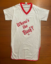 Vintage 80s 1984 Wheres the Beef Nightgown Wendy's Promotional Souvenir One Size