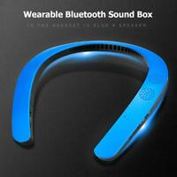 Bluetooth Wearable Neckband Sport Wireless Mini Stereo Speaker Headset Earphone
