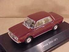 Starline 1/43 Diecast 1971 Lancia 2000 Berlina 4-Dr Sedan, LHD, York Red #509015
