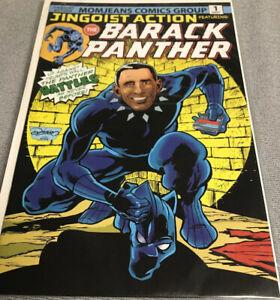 JINGOIST ACTION THE BARACK PANTHER #1-OBAMA (9.6-9.8) Black Panther Parody
