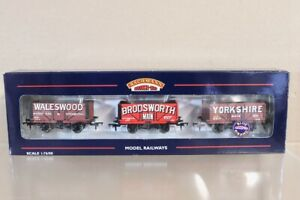 BACHMANN 37-080X WALESWOOD YORKSHIRE DONCASTER 7 PLANK WAGON SET LIMITED ED ny