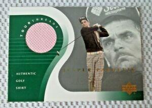 JESPER PARNEVIK Worn Pink Golf Shirt Card  2001 UPPER DECK  Tour Threads # TT-JP