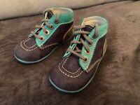 KICKERS BONBON - Chaussures Basses Premiers Pas Marine/Turquoise/Bleu Taille 22