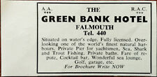 The Green Bank Hotel Falmouth Vintage Advertisement 1966