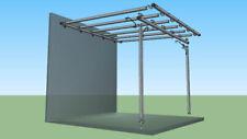 Pergola in ferro zincato o verniciato 3X3 m addossata a muro tettoia pergolato