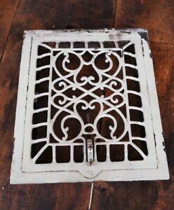 Antique Cast Iron Register Heating Grate Heart Shaped Design Victorian Vintage