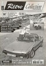 RETRO COLLECTION 37 FIAT X1/9 BERTONE X1/9 CITROEN 5HP 1925