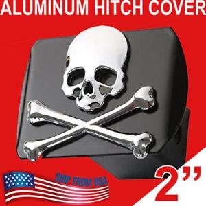 """Aluminum 3d Chrome Emblem Trailer Hitch Cover Plug Cap  2"""" Receiver Towing US"""