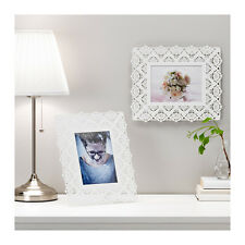 """IKEA SKURAR 5x7"""" Decorative Steel Picture Photo Frame in White Stand or Hang"""