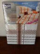 Flannelette Reversible Single Bed Duvet Cover Set, Meradiso, BNWT