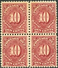 #J65b VF+ OG NH; BLOCK OF 4 CV $280.00+ BN5973