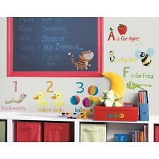 EDUCATION STATION wall stickers 115 BIG decals LETTERS NUMBERS ANIMALS FOOD room