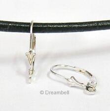 2 STR SILVER LEVERBACK Earwires Lever back EAR wire