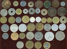 LOT DE 46 MONNAIES ( de NAPOLEON III  aux année 1990 ) de 1 centime a 100 francs