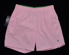 Men's POLO RALPH LAUREN Pink Swimsuit Trunks L Large NWT NEW Green Pony Nice!