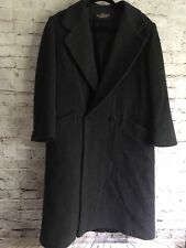 LONDON FOG 12P Full Length Black 100%  Wool Winter Dress Coat EUC