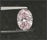 Diamant mit GIA Zertifikat 0.32 ct, seltene Farbe rosa, Ovalschliff unbehandelt