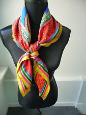 Etro NWT Colorful Square 100% Silk Scarf Classic Etro Pattern Design Retail $325