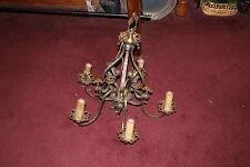 Antique Art Deco Victorian 5 Light Chandelier W/Religious Crosses-Gothic Look