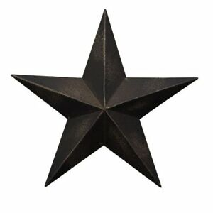 Country Dimensional Steel Metal Barn Star Wall Decor Antique Black Matte Finish