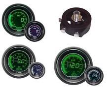 ProSport 52mm Evo Boost Psi De Presión De Aceite + + temperatura de aceite Subaru blanco verde medidores