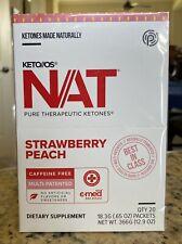 Pruvit Keto OS NAT Strawberry Peach (caffeine-free) -Sealed Box 20 OTG Packets